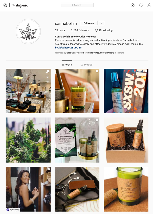 Cannabolish Instagram Grid
