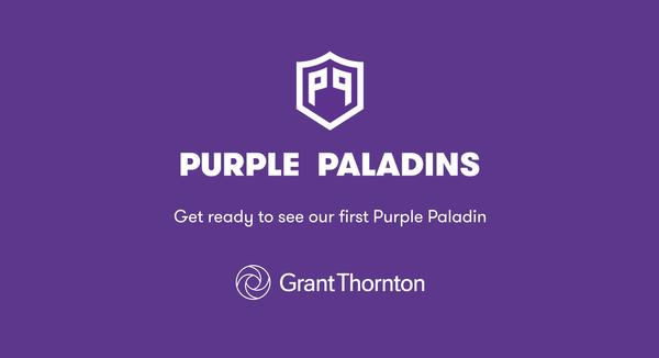 """Coming Up Rosie's"" was selected as the first Purple Paladin. This organization is run by 8-year old Rosie Quinn, who provides ""smile kits"" to hospitalized children who have lost their hair to cancer or other diseases."