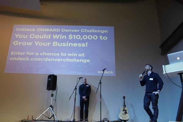 From the Creative Mornings placement that Cast Influence placed to promote the OnDeck Onward Denver Challenge.